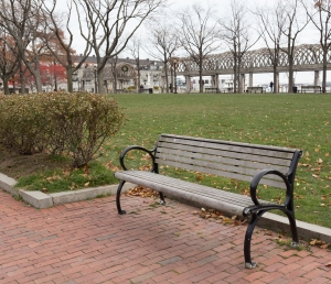 Bench in Christopher Columbus Waterfront Park