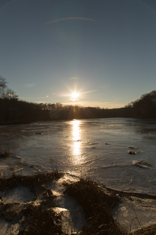 Sun over Icy River
